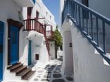 Mykonos Town, Chora, Mykonos, Cyclades, Greek Islands, Greece, Europe Fotografisk tryk af Sergio Pitamitz