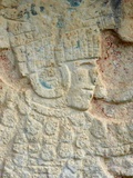 Detail of Stone Relief, Ancient Mayan Ruins, Chichten Itza, Yucatan, Mexico Photographic Print