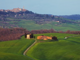 The Vitaleta Chapel With Pienza in the Distance, Val D'Orcia, Tuscany, Italy, Europe Photographic Print by Guy Edwardes
