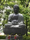 Meditating Buddha Statue, Tokyo, Japan, Asia Photographic Print