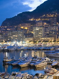 Harbour in the Port of Monaco, Principality of Monaco, Cote D'Azur, Mediterranean, Europe Photographic Print by Christian Kober