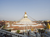 Boudha Stupa (Chorten Chempo), Boudhanath, Kathmandu, Nepal, Asia Photographic Print by Christian Kober