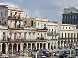 Colourful Facades of Houses in Central Havana, Cuba, West Indies, Caribbean, Central America Photographic Print by Christian Kober