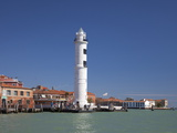 Lighthouse, Murano, Venice, UNESCO World Heritage Site, Veneto, Italy, Europe Photographic Print by Peter Barritt