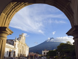 Cathedral and Volcan De Agua, 3765M, Antigua, Guatemala, Central America Photographic Print by Christian Kober