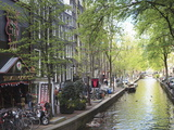 Canal in the Red Light District, Amsterdam, Netherlands, Europe Photographic Print by Amanda Hall