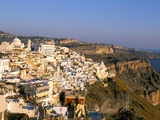Fira, Island of Santorini (Thira), Cyclades Islands, Aegean, Greek Islands, Greece, Europe Photographic Print by Sergio Pitamitz