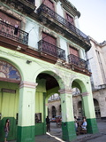 Old Buildings With Porticos, Havana, Cuba, West Indies, Central America Photographic Print by Donald Nausbaum