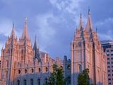 Mormon Temple in Temple Square, Salt Lake City, Utah, United States of America, North America Photographic Print by Richard Cummins