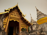 Wat Phra Singh, Chiang Mai, Chiang Mai Province, Thailand, Southeast Asia, Asia Photographic Print by Michael Snell