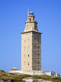 The Tower of Hercules Lighthouse, La Coruna City, Galicia, Spain, Europe Photographic Print by Richard Cummins