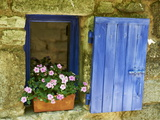 Detail of Windowbox and Shutters, Saignon Village, Vaucluse, Provence, France, Europe Photographic Print