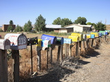 Rural Mailboxes, Galisteo, New Mexico, United States of America, North America Photographic Print by Wendy Connett