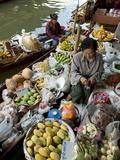 Damnoen Saduak Floating Market, Bangkok, Thailand, Southeast Asia, Asia Photographic Print by Michael Snell