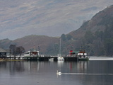 Steamer, Glenridding Pier, Ullswater, Lake District National Park, Cumbria, England, United Kingdom Photographic Print by Martin Pittaway