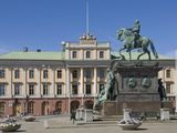 Gustav Adolf's Statue and the Medelhavs Museum, Stockholm, Sweden, Scandinavia, Europe Photographic Print by James Emmerson