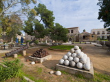 Old Cannonballs in the Center of Famagusta, Turkish Part of Cyprus, Cyprus, Europe Impressão fotográfica por Michael Runkel
