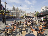 Outdoor Cafe, Grote Markt, Antwerp, Flanders, Belgium, Europe Photographic Print by Christian Kober