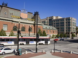 Historic Union Station and Light Rail Train, Salt Lake City, Utah, USA Photographic Print by Richard Cummins