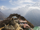 View of Ama Dablam, 6812M, Solu Khumbu Everest Region, Sagarmatha National Park, Himalayas, Nepal Photographic Print by Christian Kober