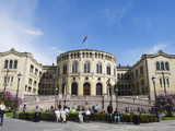Stortinget Parliament Building, Oslo, Norway, Scandinavia, Europe Photographic Print by Christian Kober