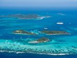 Tobago Cays and Mayreau Island, St. Vincent and the Grenadines, Windward Islands Fotografisk tryk af Michael DeFreitas