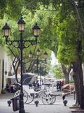 Horse Carriage For Tourists, Zona Colonial, UNESCO World Heritage Site, Dominican Republic Photographic Print by Christian Kober