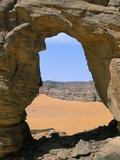 Afzgar Arch, Akakus, Sahara Desert, Fezzan, Libya, North Africa, Africa Photographic Print by Sergio Pitamitz