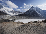 Imja Lake, Solu Khumbu Everest Region, Sagarmatha National Park, Himalayas, Nepal, Asia Photographic Print by Christian Kober