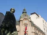 Statue of Salvador Allende in Plaza de la Constitution, Santiago, Chile, SA, Photographic Print