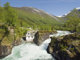Holsbrua Waterfall, Western Norway, Norway, Scandinavia, Europe Photographic Print by Christian Kober