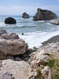 Aphrodite Rock and Beach, Cyprus, Mediterranean, Europe Photographic Print by Michael Runkel