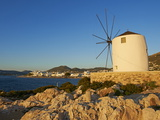 Windmill Near the Harbour, Parikia (Hora), Paros Island, Cyclades, Greek Islands, Greece, Europe Photographic Print