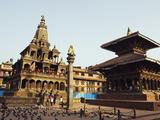 Krishna Mandir, a 7th Century Hindu Temple, UNESCO World Heritage Dite, Durbar Square, Patan, Nepal Photographie par Christian Kober