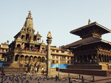 Krishna Mandir, a 7th Century Hindu Temple, UNESCO World Heritage Dite, Durbar Square, Patan, Nepal Photographic Print by Christian Kober