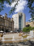 Fountains in City Square, Leeds, West Yorkshire, England, Uk Photographic Print by Peter Richardson