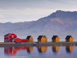 Eskifjordur Village, Eskifjordur Fjord, East Fjords Region (Austurland), Iceland, Polar Regions Reproduction photographique par Patrick Dieudonne