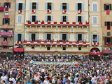 Crowds at El Palio Horse Race Festival, Piazza Del Campo, Siena, Tuscany, Italy, Europe Photographic Print by Christian Kober