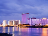 Casinos on the Colorado River, Laughlin City, Nevada, USA Photographic Print by Richard Cummins