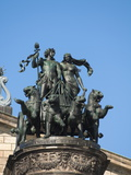 Statue Outside Opera House, Dresden, Saxony, Germany, Europe Photographic Print by Michael Snell