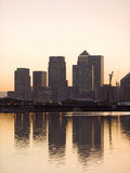 Canary Wharf Seen From Victoria Wharf, London Docklands, London, England, United Kingdom, Europe Photographic Print by Graham Lawrence