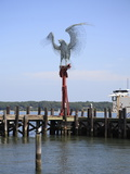Morning Call Sculpture, 9/11 Memorial of An Osprey on a Perch Made From Beams From the WTC Photographic Print by Wendy Connett
