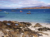 Small Boats, Isle of Iona, Inner Hebrides, Scotland, United Kingdom, Europe Photographic Print by Patrick Dieudonne