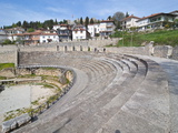 Amphitheatre at Ohrid at Lake Ohrid, UNESCO World Heritage Site, Macedonia, Europe Photographic Print by Michael Runkel