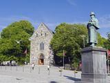 Statue of Alexander Kielland, Stavanger Cathedral, Stavanger, Norway, Scandinavia, Europe Photographic Print by Christian Kober