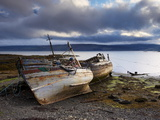 Old Fishing Boats at Salen, Isle of Mull, Inner Hebrides, Scotland, Uk Photographic Print by Patrick Dieudonne