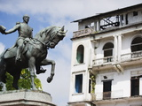 Statue of General Tomas Herrera, Historical Old Town, Panama City, Panama Photographic Print by Christian Kober