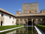 Patio De Los Arrayanes and Comares Tower, Alhambra Palace, Granada, Andalucia, Spain Photographic Print by Jeremy Lightfoot