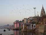 The Ganges River and Ghats of Varanasi, Uttar Pradesh, India, Asia Photographic Print