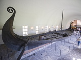 Oseberg Viking Ship Excavated From Oslofjord, Vikingskipshuset (Viking Ship Museum), Oslo Photographic Print by Christian Kober